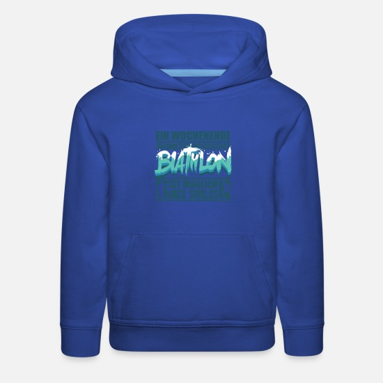 British Hoodies & Sweatshirts - Biathlon Shirt Winter Sports Fan Articles - Kids' Premium Hoodie royal blue