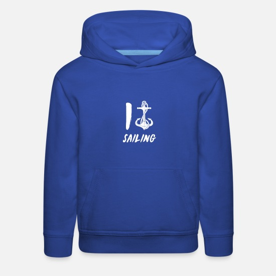 Cruise Hoodies & Sweatshirts - I love sailing - Kids' Premium Hoodie royal blue