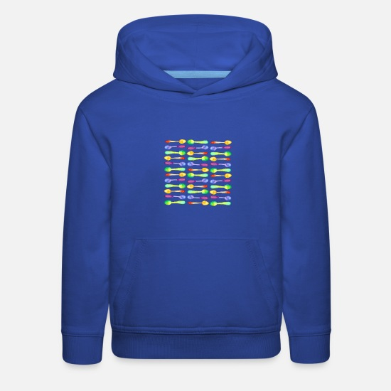 Invisible Hoodies & Sweatshirts - Colorful Watercolor Spoons! - Kids' Premium Hoodie royal blue