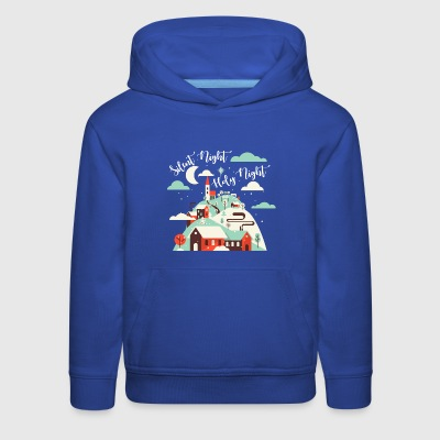 Silent Night.Holy Night. Winter Village.Christian. - Kids' Premium Hoodie