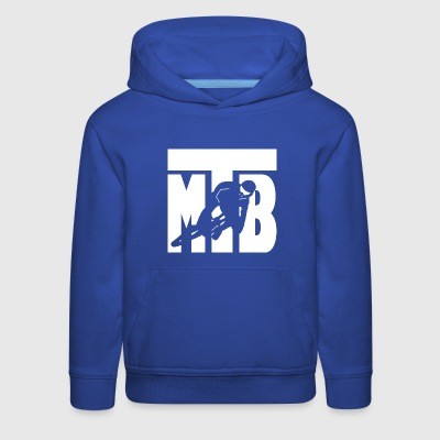 MTB mountain bike cycling biker downhill freeride - Kids' Premium Hoodie