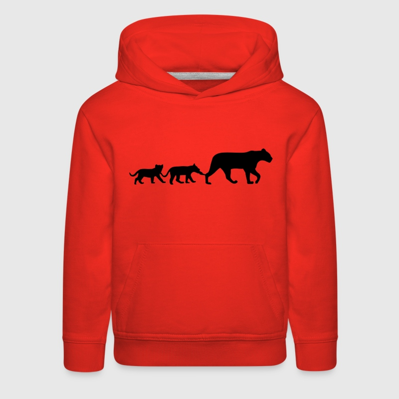 Lioness and lion cubs - Kids' Premium Hoodie