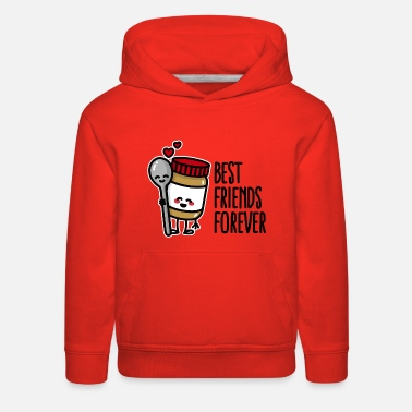 Toddler Best friends forever peanut butter / spoon BFF - Kids' Premium Hoodie