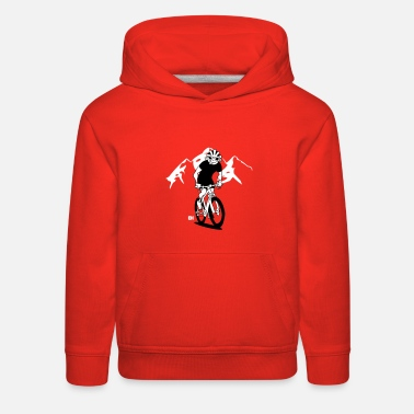 MTB - Mountain biker in the mountains - Kids' Premium Hoodie