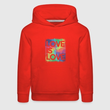 Love is Love Geometric LGBT Gay Pride - Kids' Premium Hoodie