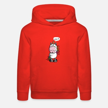 Funny Unicorn Unicorn Cartoon - Funny - Cute - Gift - Unicorns - Kids' Premium Hoodie