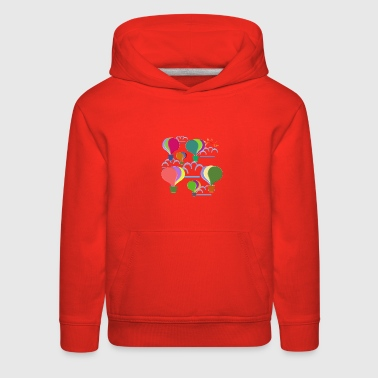 Hot Air Balloon hot air balloons and clouds - Kids' Premium Hoodie