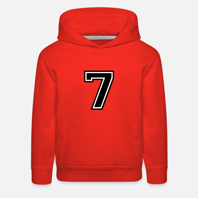 Number Hoodies & Sweatshirts - Number 7 Seven - Kids' Premium Hoodie red