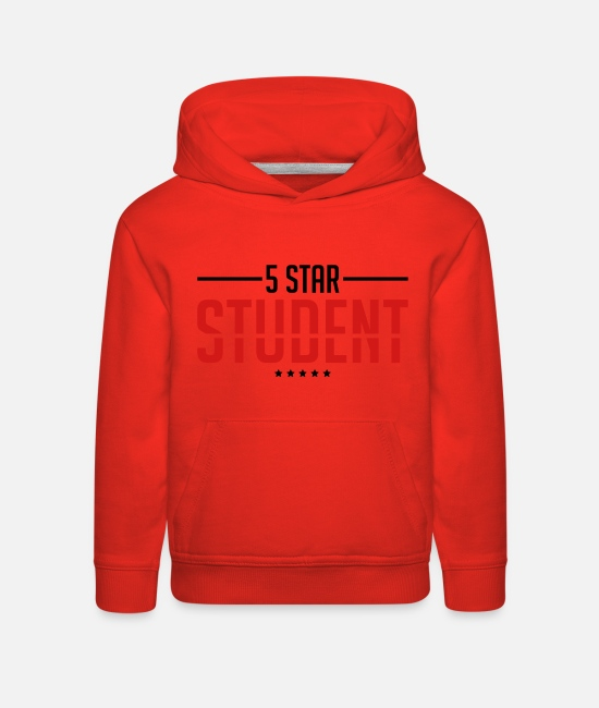 Learning Hoodies & Sweatshirts - 5_star_student_sa2 - Kids' Premium Hoodie red