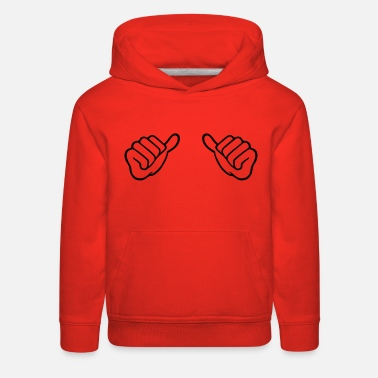 Text this guy this girl hands - Kids' Premium Hoodie