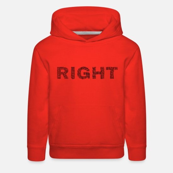 Art Hoodies & Sweatshirts - Right Left Black - Kids' Premium Hoodie red