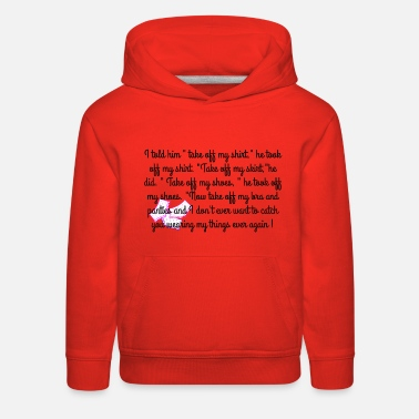 Take-off-plane Take off my Clothes - Kids' Premium Hoodie