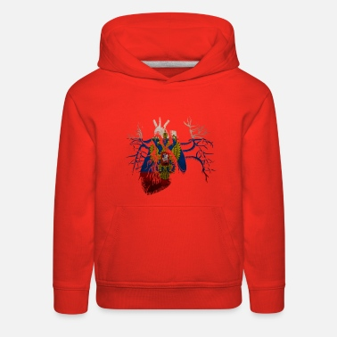 Russian Flag Russian Flag in Real Heart - Kids' Premium Hoodie