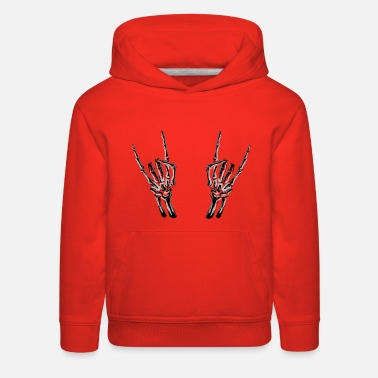 Climbing &amp Skeleton Rock Hands - Kids' Premium Hoodie