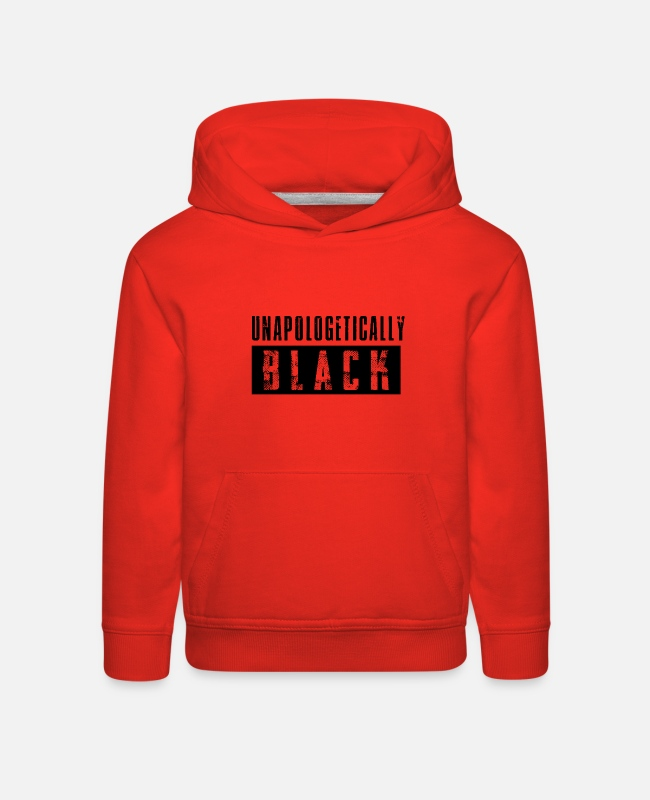 Black Power Hoodies & Sweatshirts - Unapologetically Black - Kids' Premium Hoodie red