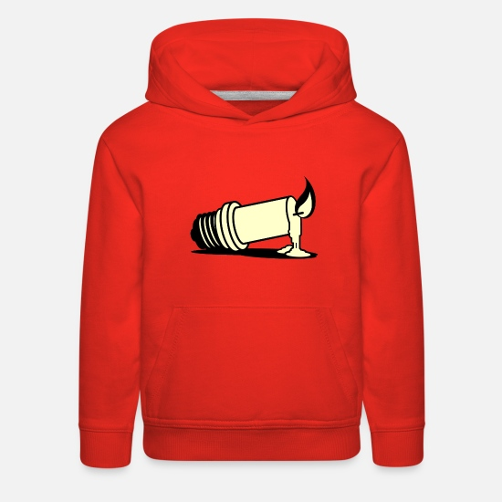 Lightning Hoodies & Sweatshirts - Candle light - Kids' Premium Hoodie red