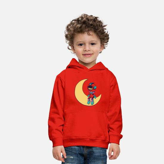 Young Hoodies & Sweatshirts - Cool funny Cute space astronaut - Kids' Premium Hoodie red