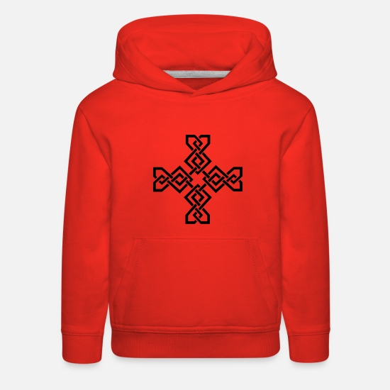 Celtic Hoodies & Sweatshirts - celtic symbol - Kids' Premium Hoodie red