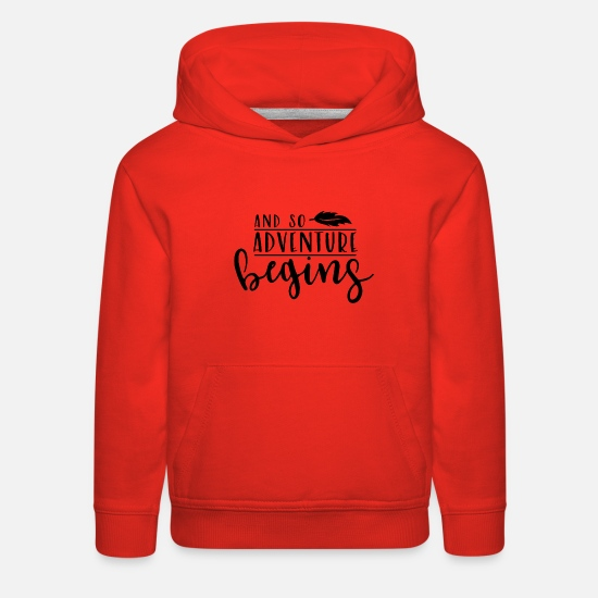 Gift Idea Hoodies & Sweatshirts - Adventure - Kids' Premium Hoodie red