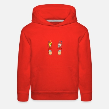 Cube Iced tea lemon vs. peach with special powers - Kids' Premium Hoodie