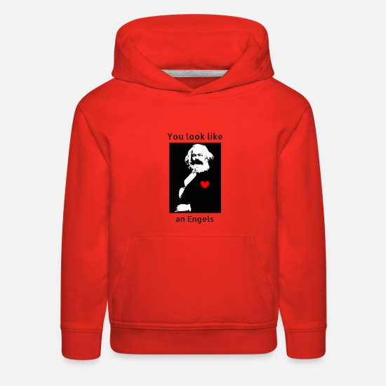 Democrat Hoodies & Sweatshirts - Marx_love_Shirt - Kids' Premium Hoodie red