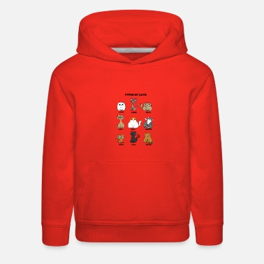 Cat Breed Cat Breeds Cat mother Lady funny gift - Kids' Premium Hoodie