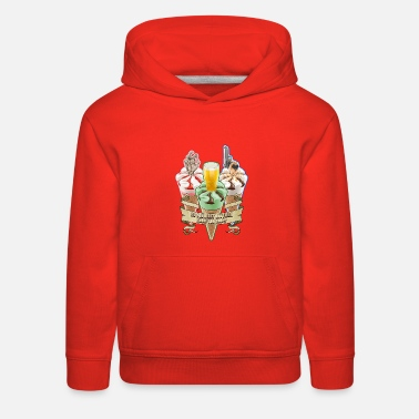 Trilogy Three Flavours Cornetto Trilogy with banner - Kids' Premium Hoodie