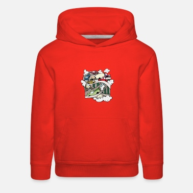 Smoke car-pollution - Kids' Premium Hoodie