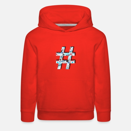 Social Media Hoodies & Sweatshirts - Social Media - Kids' Premium Hoodie red
