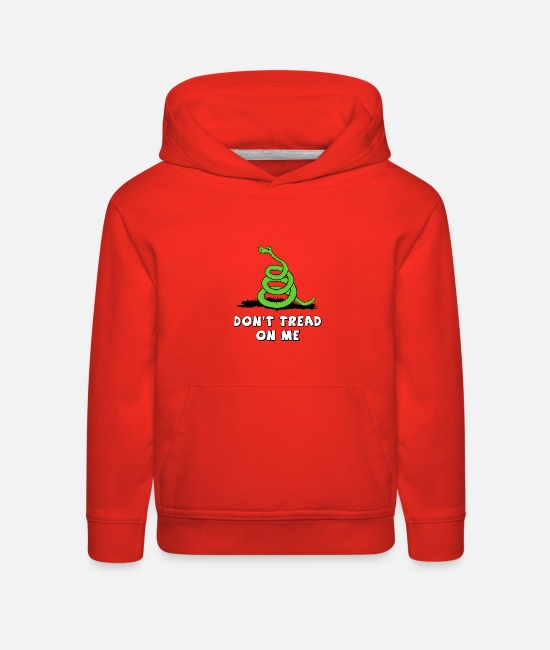Dont Hoodies & Sweatshirts - Don't Tread On Me (Gadsden Flag) Kids - Kids' Premium Hoodie red