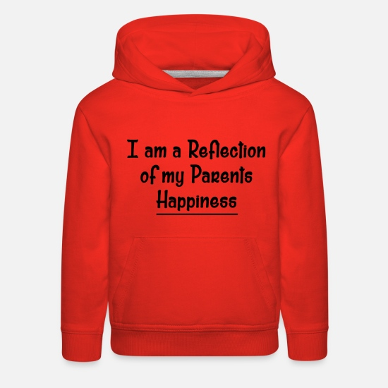 Reflective Hoodies & Sweatshirts - A REFLECTION - Kids' Premium Hoodie red