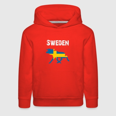 Nation-Design Sweden Moose - Kids' Premium Hoodie