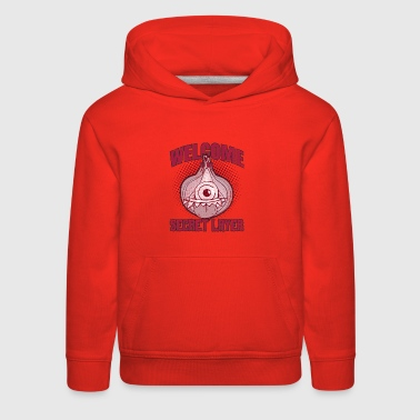 Distressed Onion Monster My Secret Layer ➢ Onion - Kids' Premium Hoodie