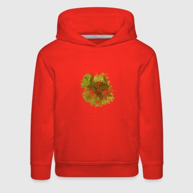 Dragon watercolor gift fantasy animal fly fire - Kids' Premium Hoodie