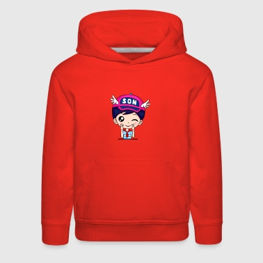 I Am Son - Cartoon Family - Kids' Premium Hoodie