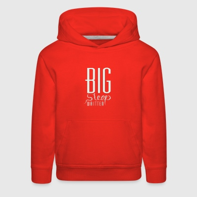 The big sleep written - Kids' Premium Hoodie