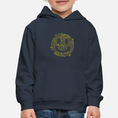 Positively Electric Smiley Face - Kids' Premium Hoodie
