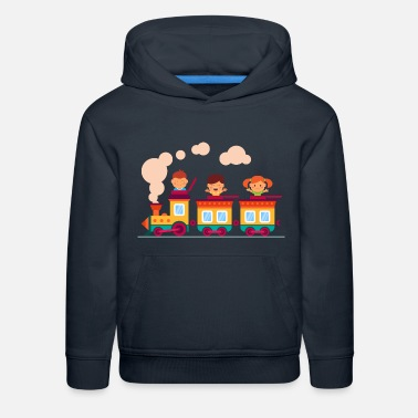 Railway children on the railway - Kids' Premium Hoodie