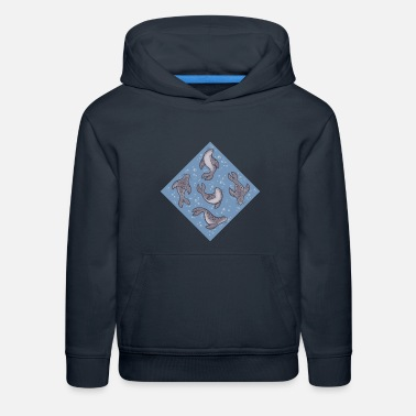 Harbor Seal Swimming Seals - Kids' Premium Hoodie