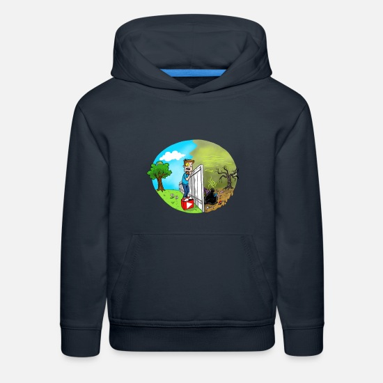 Vision Hoodies & Sweatshirts - FUNnel Vision THE OTHER SIDE (Adults) - Kids' Premium Hoodie navy