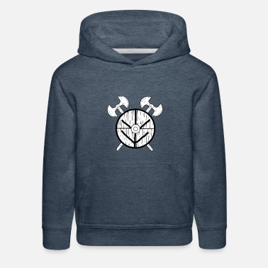 Shield Maid Shield Maid Norse Mythology Viking - Kids' Premium Hoodie