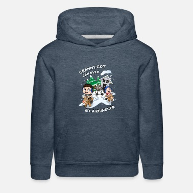 Over Granny Got Ran Over By A Reindeer - Kids' Premium Hoodie