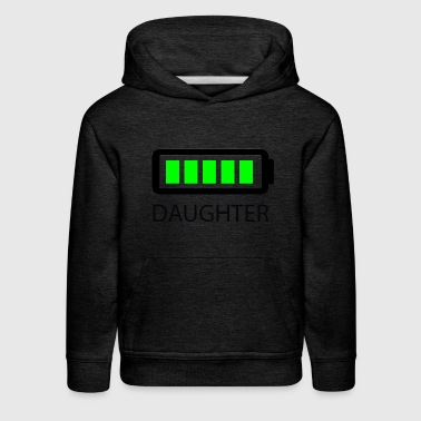 Battery Full Daughter - Kids' Premium Hoodie