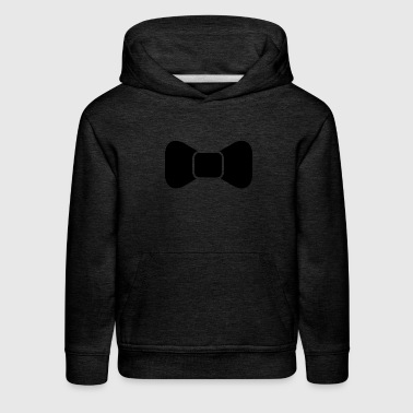 Black bow tie isolated - Kids' Premium Hoodie