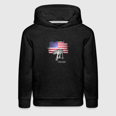 freedom space war fighter American flag Movie - Kids' Premium Hoodie