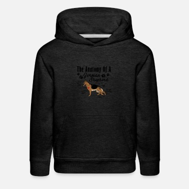 German Shepherd The Anatomy Of A German Shepherd Shirt - Kids' Premium Hoodie
