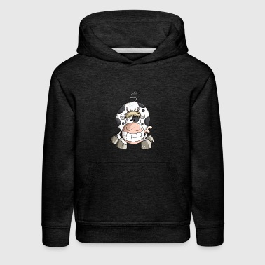 Smiling Cow - Cows - Funny - Animal - Gift - Kids' Premium Hoodie