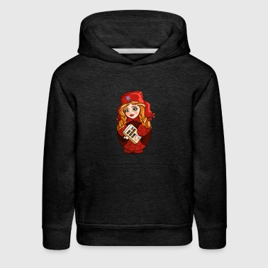 Russian nesting doll matryoshka Red - Kids' Premium Hoodie