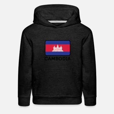 Krama National Flag Of Cambodia - Kids' Premium Hoodie