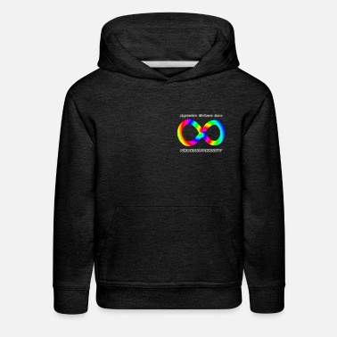 Embrace Neurodiversity with Swirl Rainbow - Kids' Premium Hoodie